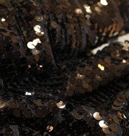 Paillettenstof zwart