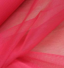 Tule fluo roze - stijf
