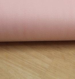 Tule pastel roze - stijf