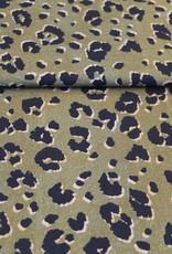 COUPON Kaki animal print viscose 20x140cm