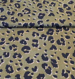 COUPON Kaki animal print viscose 20x140cm