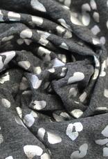 Nooteboom Tricot donkergrijs zilver gevlekt leopard