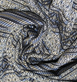 A La Ville Haute Couture breisel gestreept blauw/kaki
