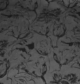 Toptex Wol flockprint floral