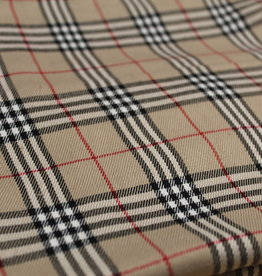 A La Ville Haute Couture COUPON Burberry check beige 105x150cm