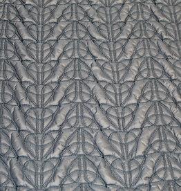 Toptex Blauw doorstikt gewatteerd jassenstof met patroon