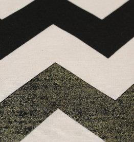 Nooteboom Canvas zigzag zwart & zwartgoud