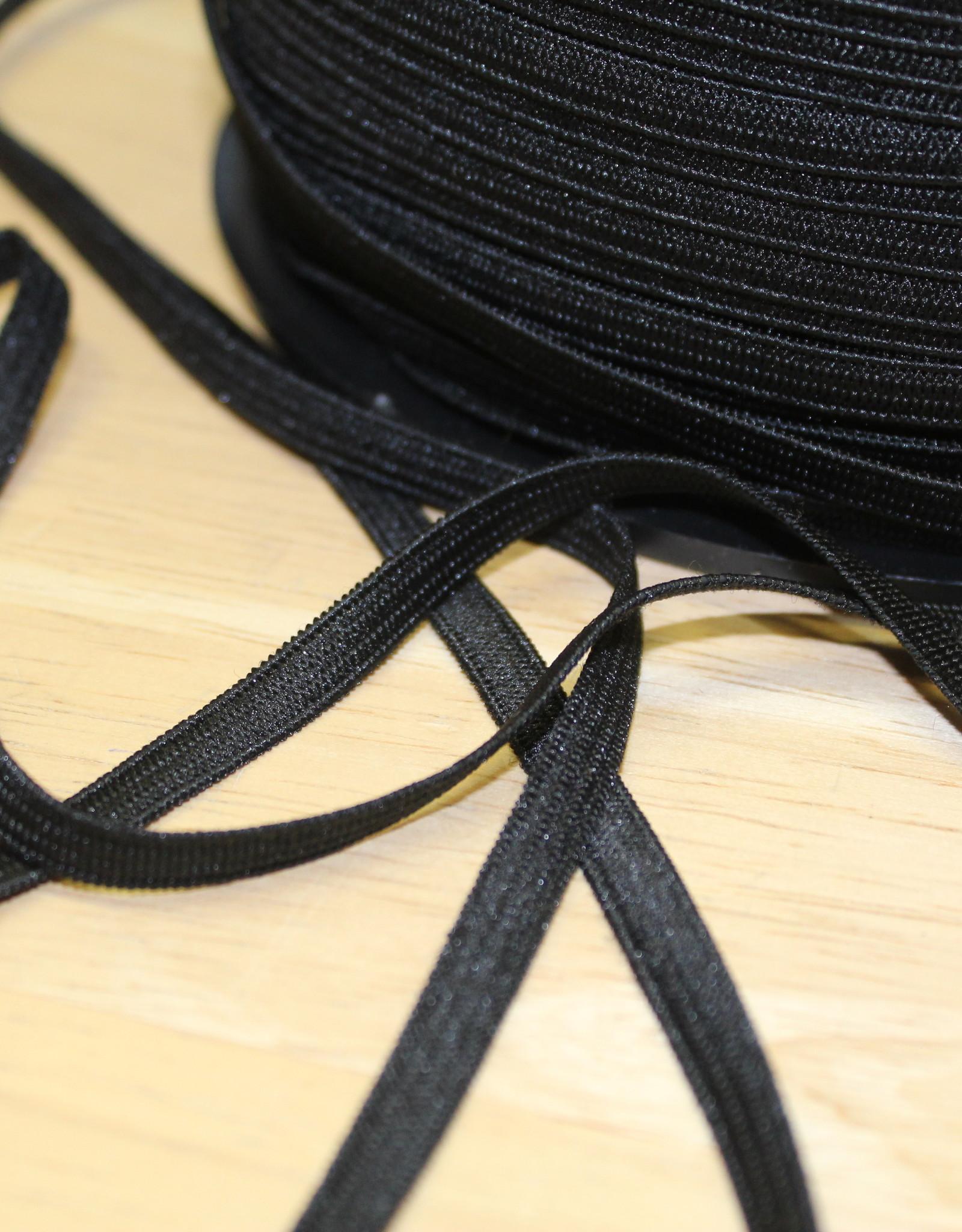 Soepel elastiek zwart 5mm