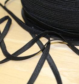 Soepel elastiek zwart 5mm geschikt voor mondmaskers