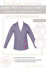 Lillesol & Pelle T-shirt met V-hals vrouwen No 24