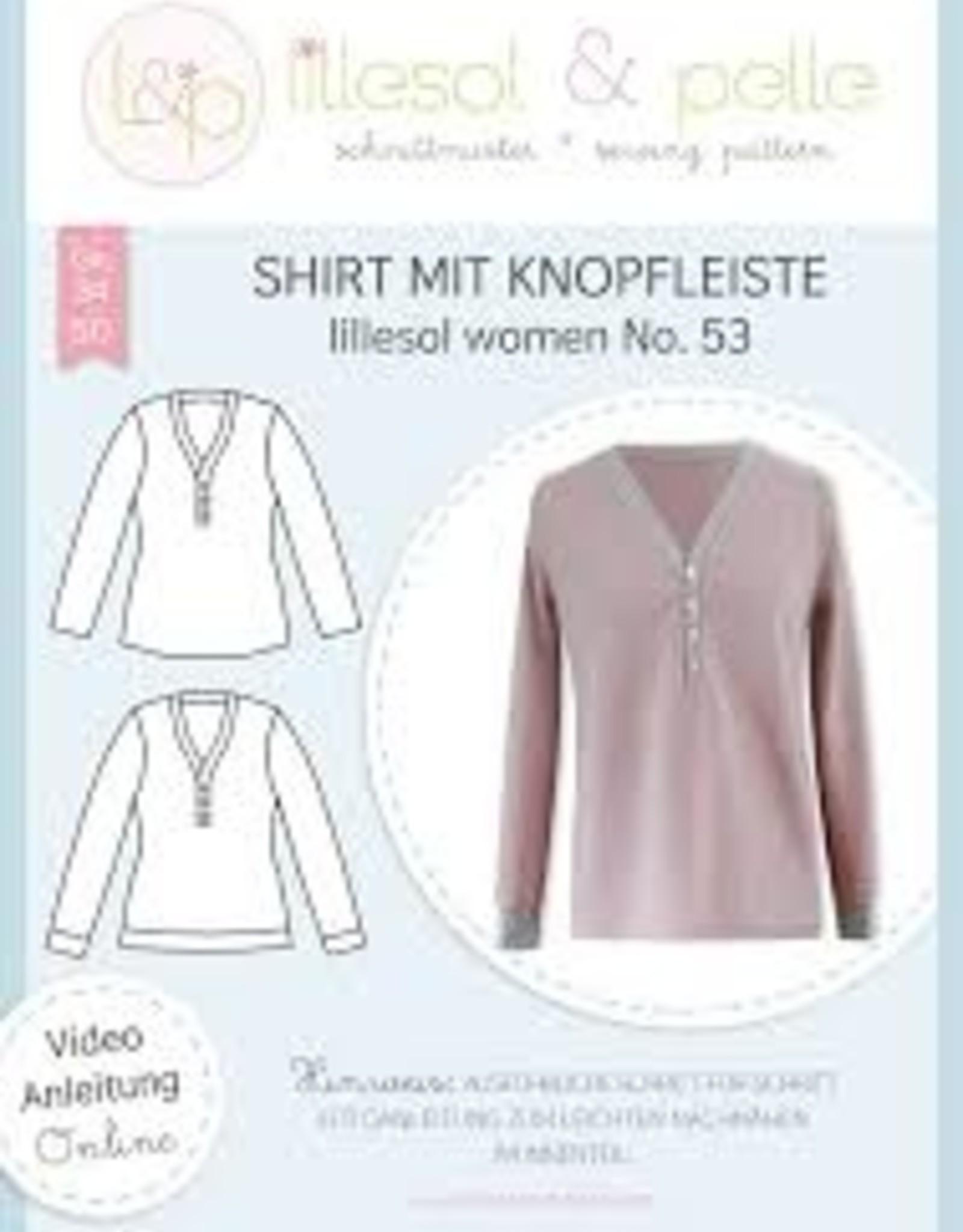T-shirt met knopenpad vrouwen No 53