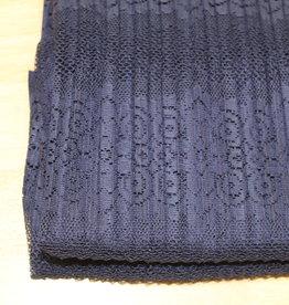 A La Ville Haute Couture COUPON kantplissée navy 70x140cm