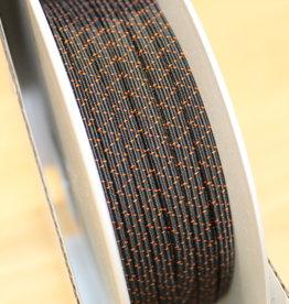 Elastiek 4.5mm zwart - rol van 50m