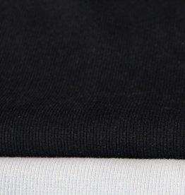 boordstof fijne rib zwart 35cm tubular