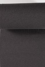 COUPON boordstof fijne rib donkergrijs mélange 24x70cm