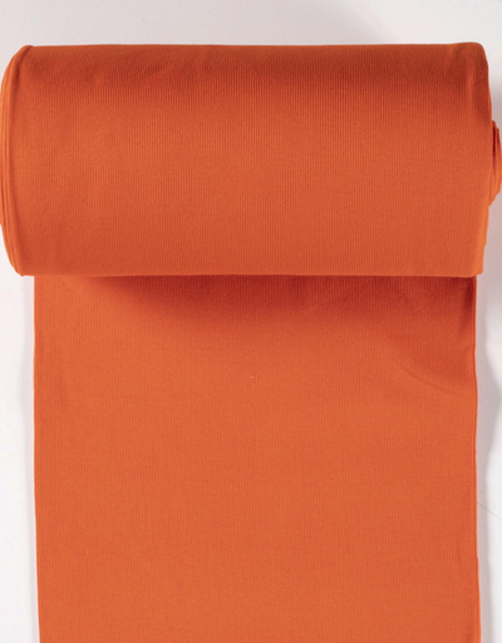 boordstof fijne rib orange 35cm tubular