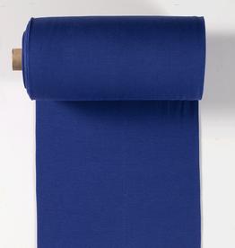boordstof fijne rib kobalt blue 35cm tubular