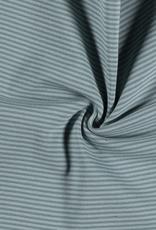 boordstof gestreept oudgroen/mint 35cm tubular