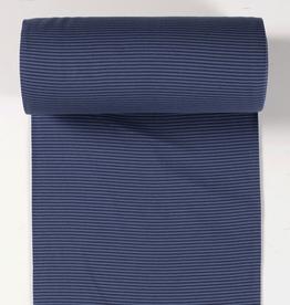 boordstof gestreept navy/denim 35cm tubular