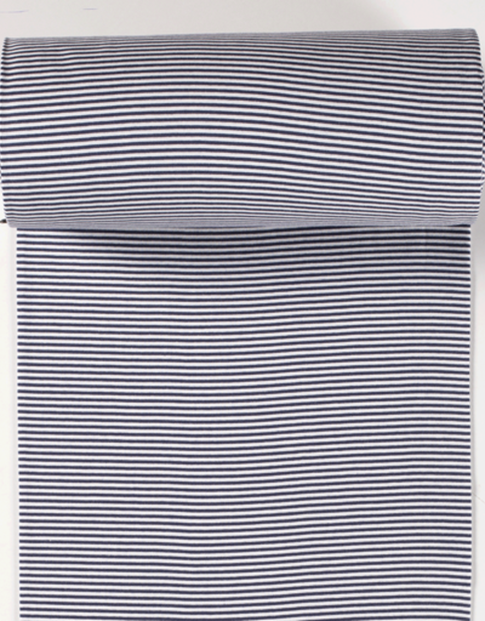 boordstof gestreept wit/navy 35cm tubular
