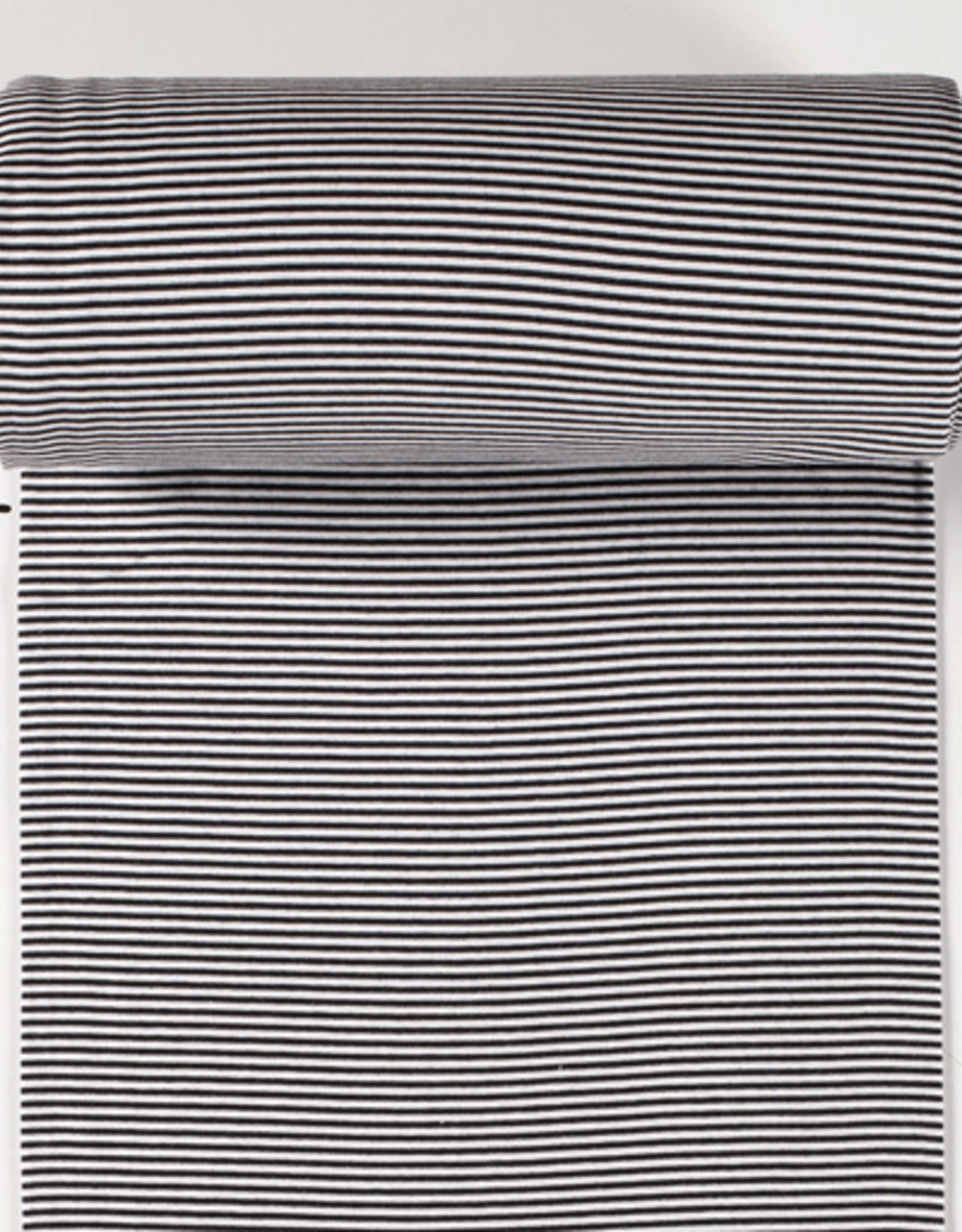 boordstof gestreept wit/zwart 35cm tubular