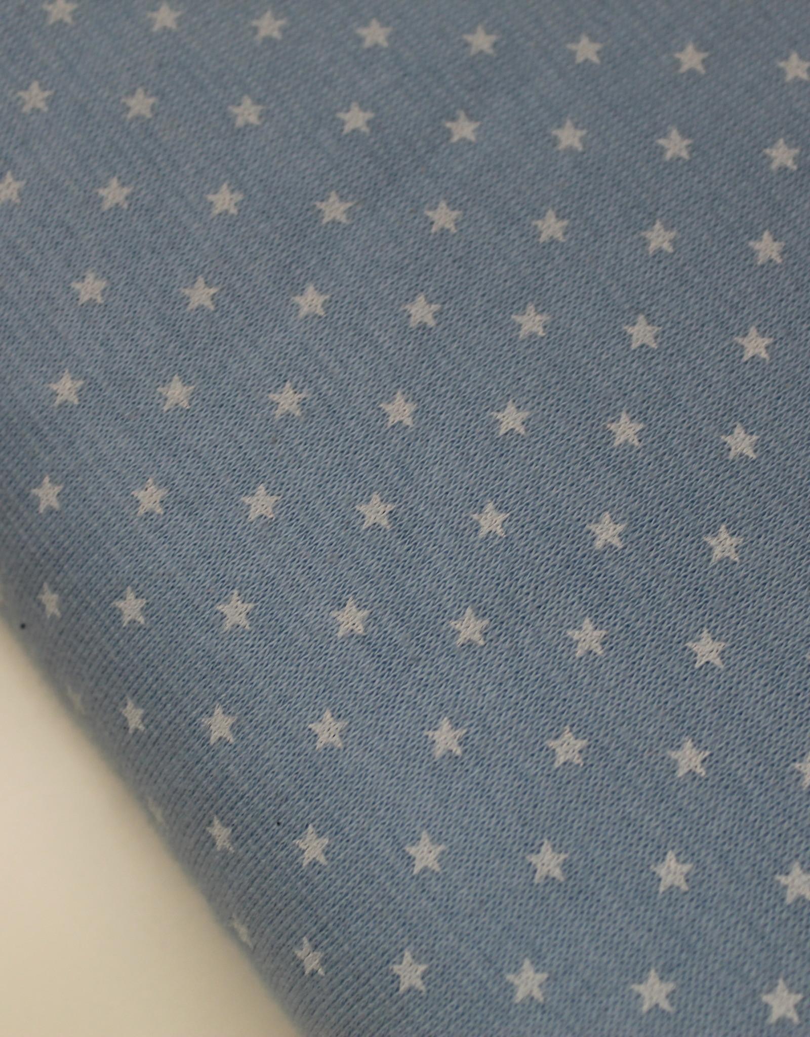 Boordstof sterretjesprint lichtblauw 35cm tubular