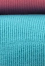 Hilco boordstof rib turquoise 45cm tubular
