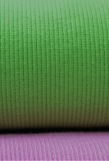 Hilco boordstof rib lime 45cm tubular