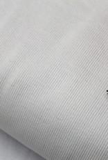 Boordstof fijne ribbel wit 35cm tube