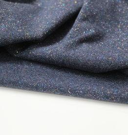 Multicolor glitter boordstof jeans 35cm tube