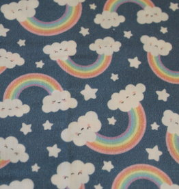 swafing COUPON Katoen Toni blue rainbows (90cm x 140cm)