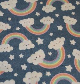 swafing Katoen Toni blue rainbows