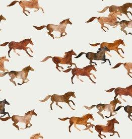 family fabrics Wild Horses jersey