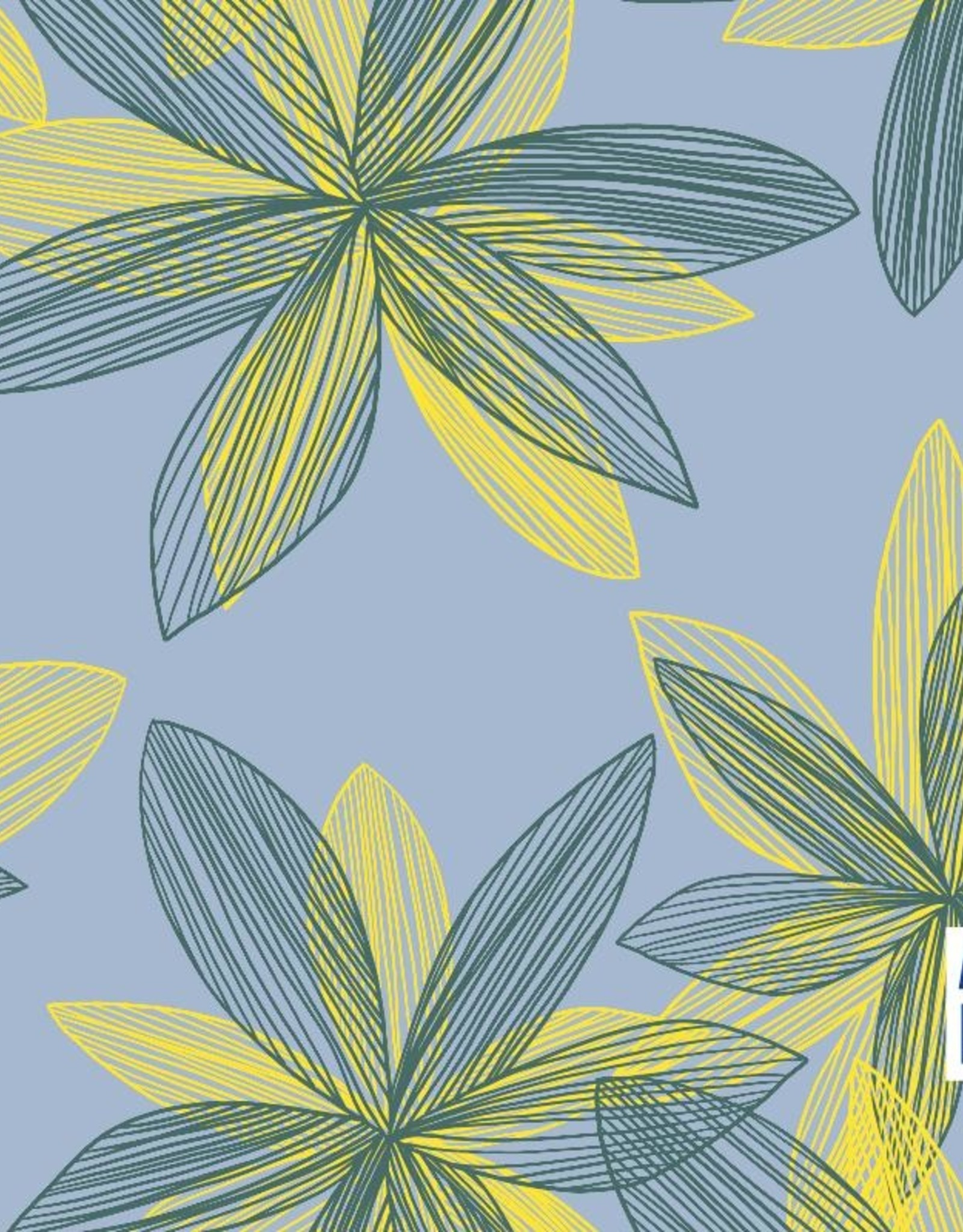 About Blue Fabrics Let me be a flower crepe viscose - About Blue