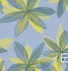 About Blue Fabrics Let me be a flower crepe viscose - About Blue