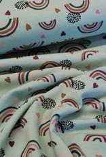 Poppy Jersey GOTS rainbow mint