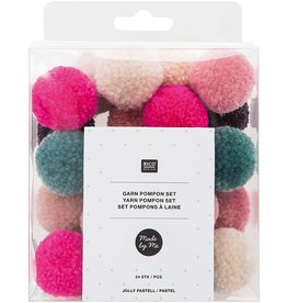 Rico Design Pompon set jolly pastel - 24stuks