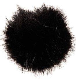 Rico Design Fake Fur pompon zwart 5cm