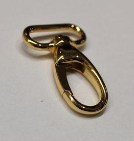 Karabijnhaak 40mm goud