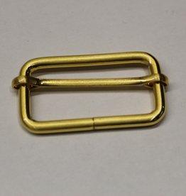 Schuifgesp 40mm goud met verschuifbaar middenstuk