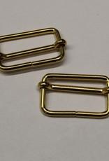 Schuifgesp 30mm goud met verschuifbaar middenstuk