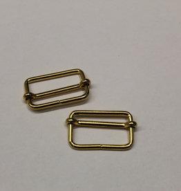 Schuifgesp 25mm goud met verschuifbaar middenstuk