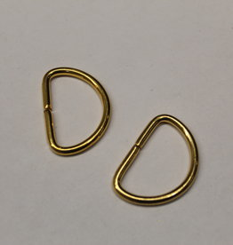 D-ring 30mm goud