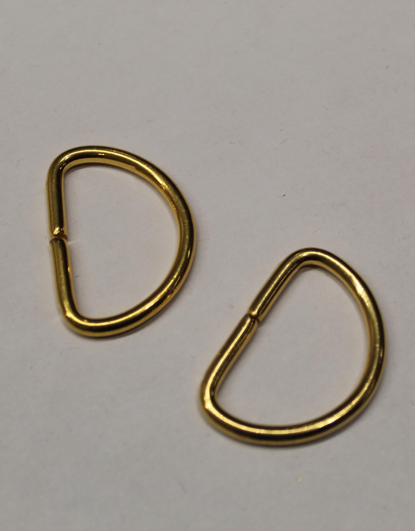 D-ring 20mm goud