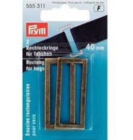 Prym Prym  - rechthoeklussen tassen 40mm oudmessing - 555 311