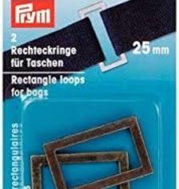 Prym Prym  - rechthoeklussen tassen 25mm oudmessing - 555 301