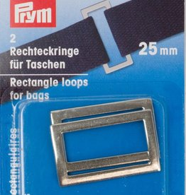 Prym Prym  - rechthoeklussen tassen 25mm zilver - 555 300