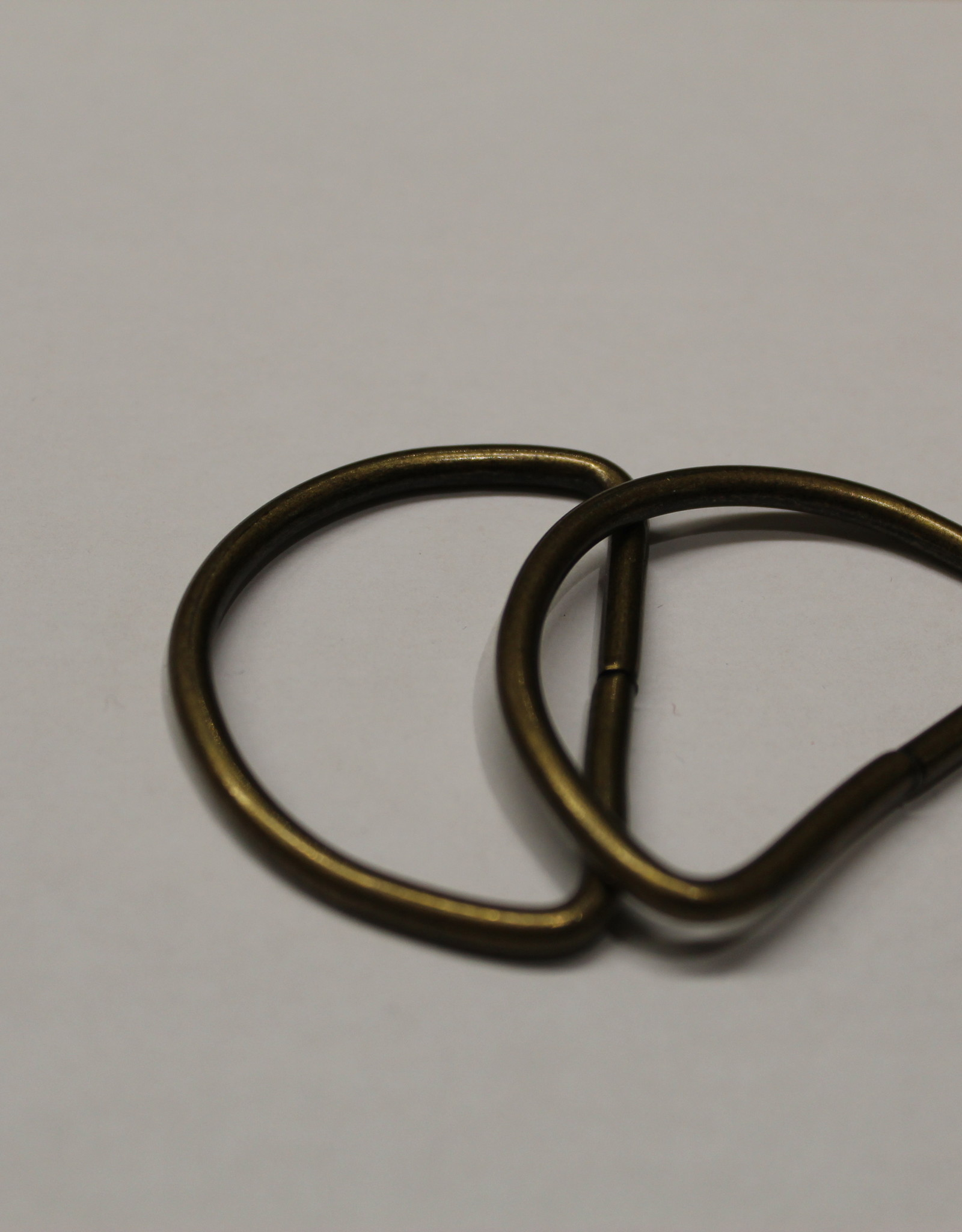 D-ring 40mm messing