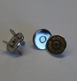 magneet 17mm zilver