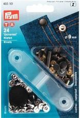 Prym Prym Siernieten (rivets) - 9mm - zilver/goud - 403 101